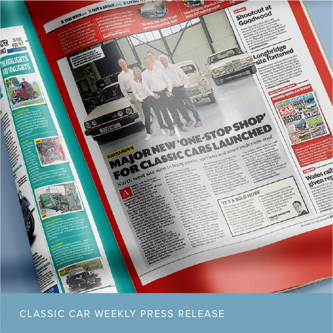 Classic Car Weekly press release