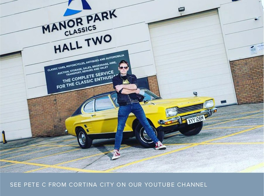 See Pete C from Cortina City on the Manor Park Classics Youtube Channel