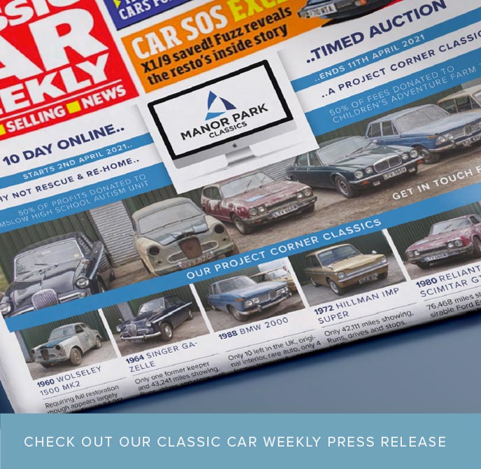 classic car weekly timed auction advert