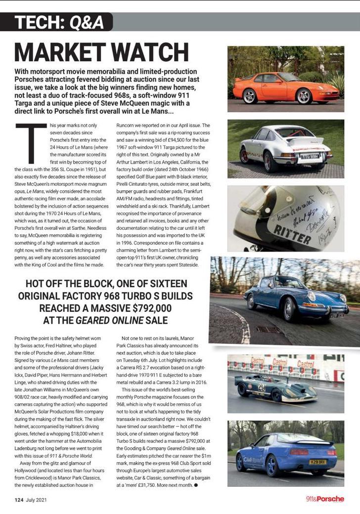 911 & Porsche Article