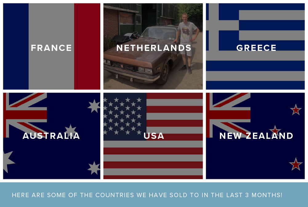 In the past 3 months we have sold cars to France, Netherlands, Greece, Australia, USA & New Zeland!